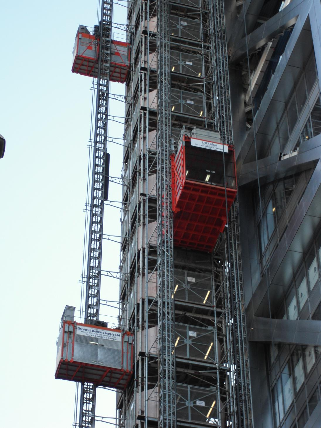 Building Site Lift Tower