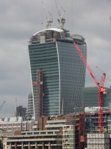 21 Fenchurch St London Under Construction Showing UBSL Hoist & Common Tower